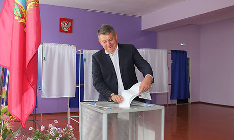 Брянский губернатор проголосовал «схорошим настроением»