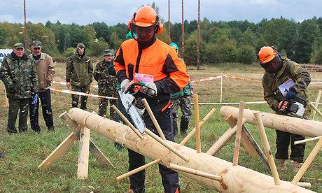 Судимый вальщик леса стал лучшим брянским лесорубом