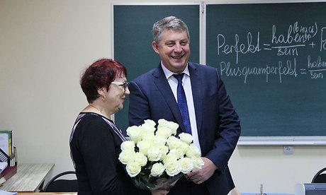 Брянский губернатор поздравил любимого преподавателя сДнём учителя