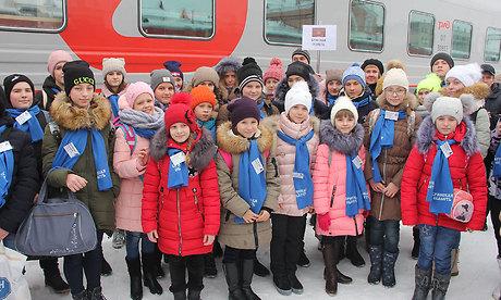 Брянские ребята направились наКремлевскую елку в столицу