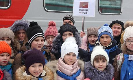 Брянские дети наКремлевской елке