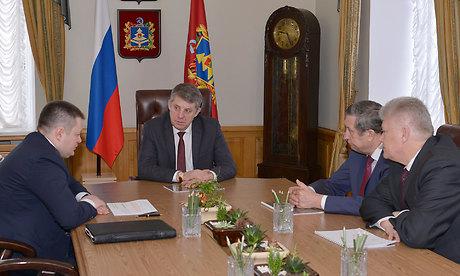 Губернатор Брянской области встретился с управлением АО «Мальцовский портландцемент»