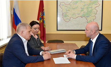 Сотрудники ОНФ встретились сзаместителем губернатора Брянской области Александром Коробко
